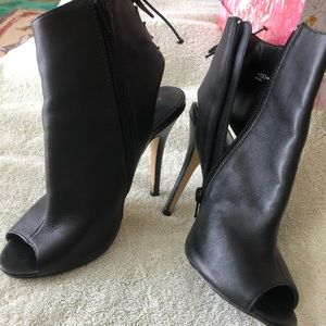 Black bootie open toe